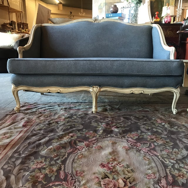 Vintage Shabby Chic French Provincial Loveseat - Image 2 of 4