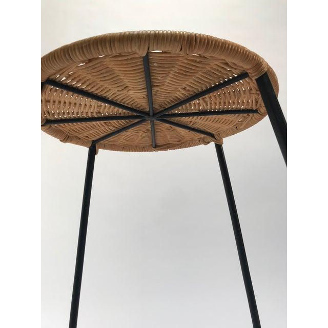 Vintage Arthur Umanoff metal frame counter stools - a Pair - Image 10 of 11