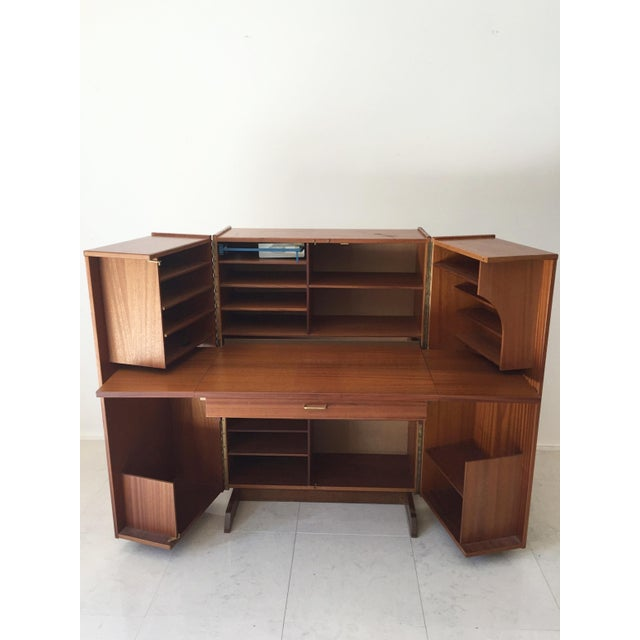 Teak Quot Magic Box Quot Folding Desk Cabinet Chairish