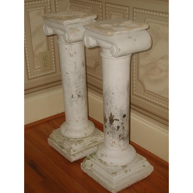 Architectural Column Base : Architectural plaster column table bases a pair chairish