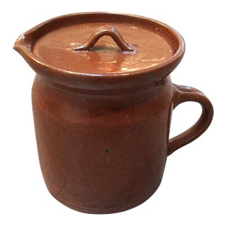 Small Brown Pottery Jug / Pitcher