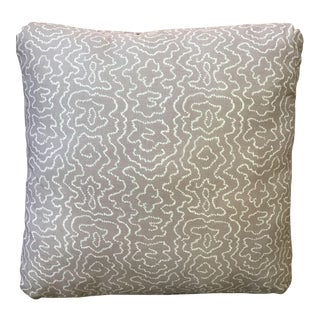 Pale Lavender Squiggle Print Pillow