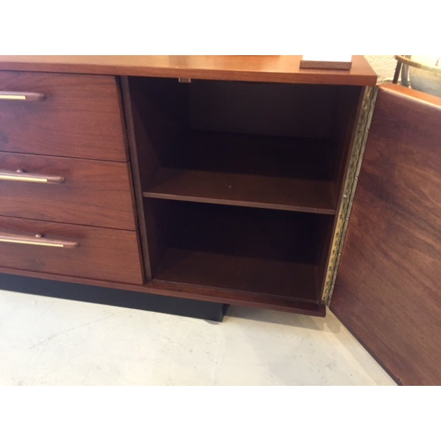 Mexican Modernist Walnut Credenza - Image 8 of 8