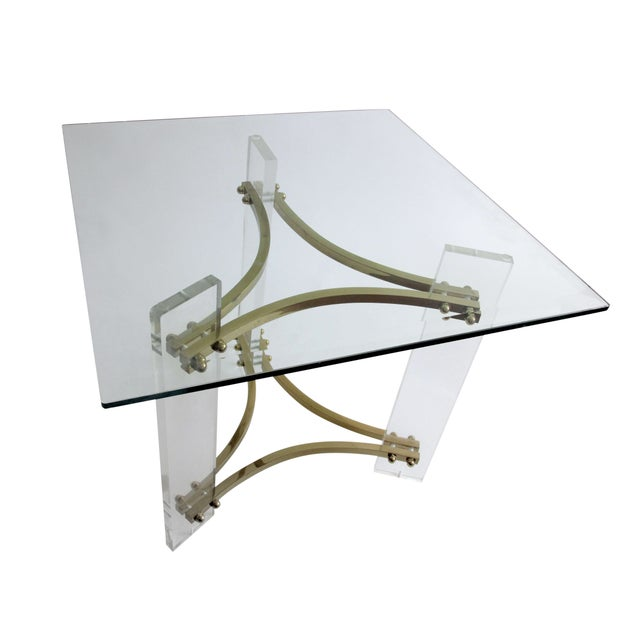 Mid-Century Charles Hollis Jones Lucite Side Table - Image 1 of 6