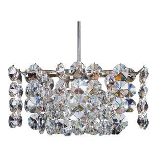 Austrian Mid-Century Crystal Glass Chandelier