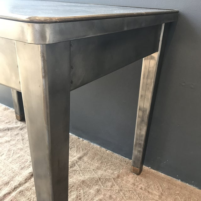 Vintage Industrial Metal Desk - Image 8 of 8