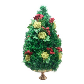 Vintage Table Top Decorated Pine Tree