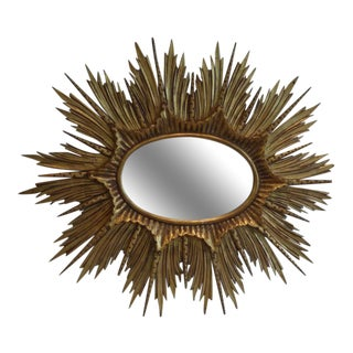 1920s French Hollywood-Regency Style Gilded Mirror