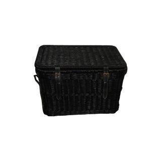 Vintage Rattan Storage Trunk