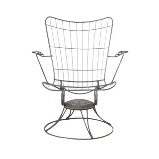 Mid-Century Modern Wire Patio Chair Frame - A Pair