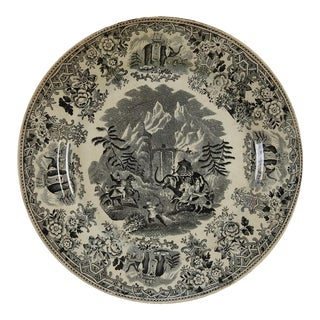 Hannibal & Elephants Antique Transferware Plate