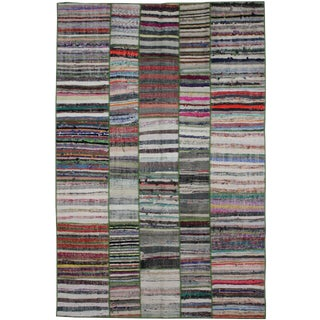 """Hand Knotted Patchwork Kilim by Aara Rugs Inc. 9'6"""" X 6'5"""""""