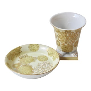 Porcelain Smoking Set - 2 Pieces