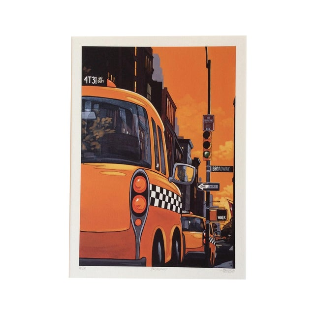 "Image of ""Broadway"" Neo-Pop Signed Silkscreen - Boudro"