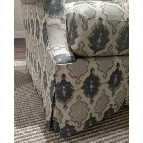 O. Henry House Blue & White Patterned Club Chair - Image 5 of 6