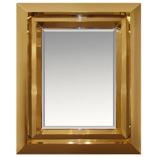 Custom Brass Beveled Mirror / 1617
