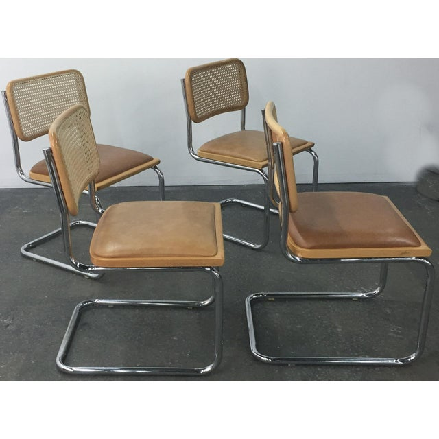 Vintage Breuer Cesca Style Chrome & Cane Chairs - Set of 4 - Image 3 of 8