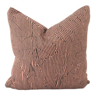 Contemporary Abstract Stripes Pillow
