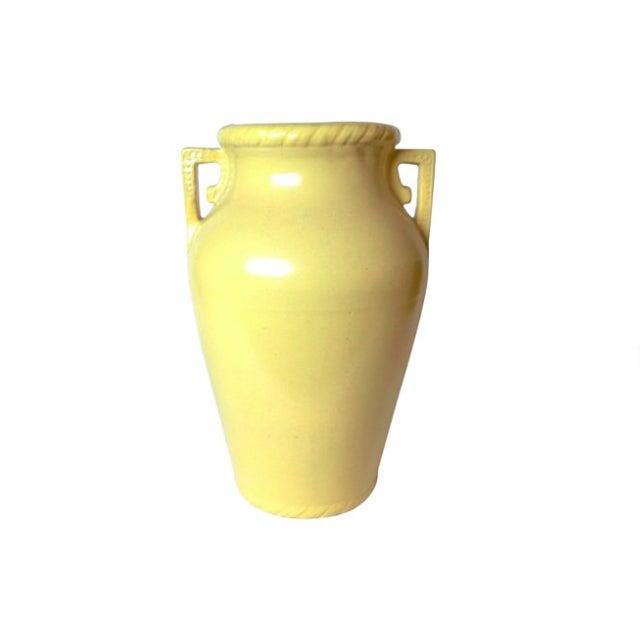 Rim Shop Near Me >> Mustard Yellow Art Pottery Floor Vase | Chairish