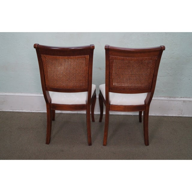 Image of Nichols & Stone Traditional Cane Dining Chairs - 6