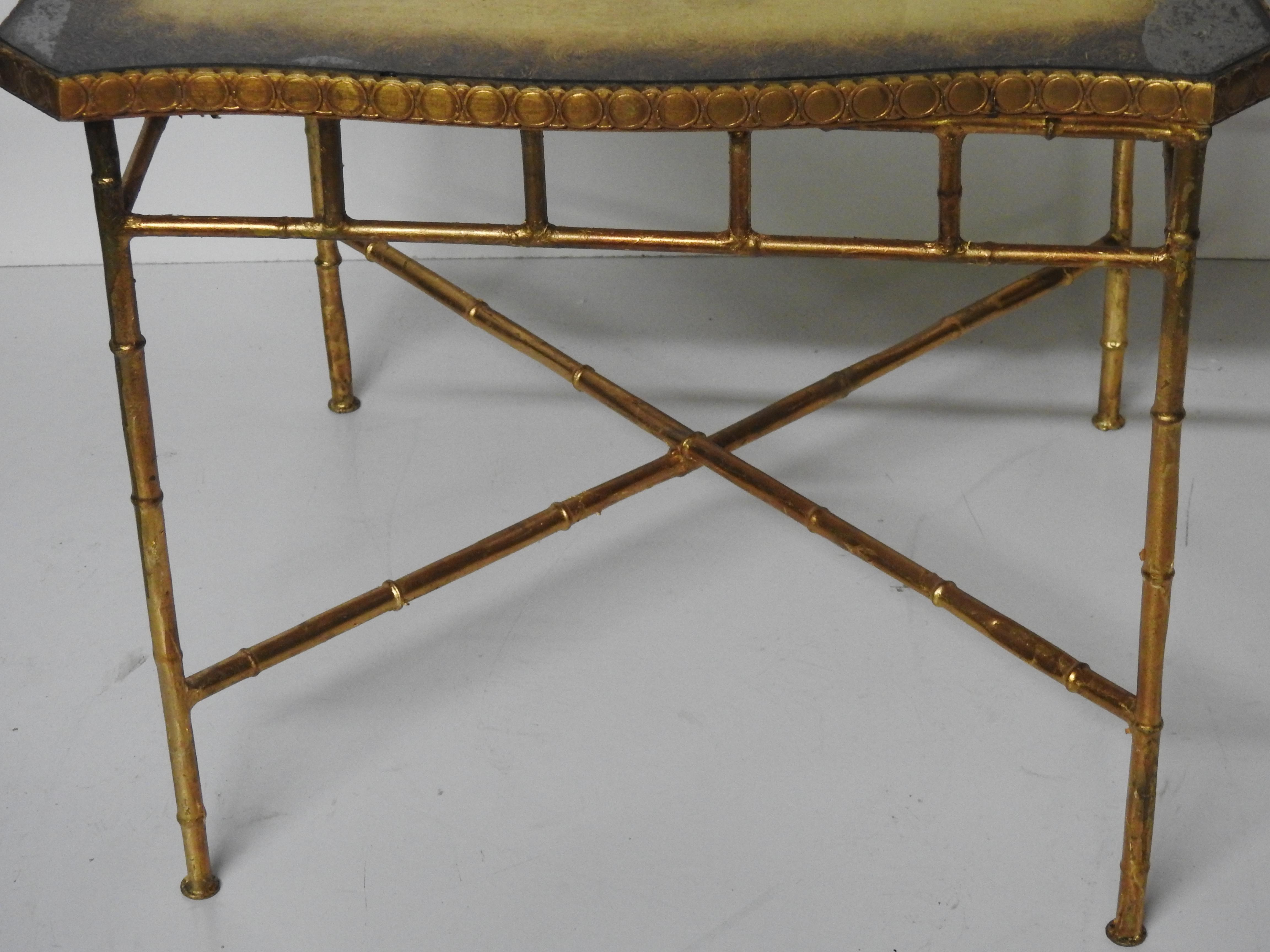 Pair Of Hollywood Regency Style Faux Bamboo End Tables   Image 3 Of 4