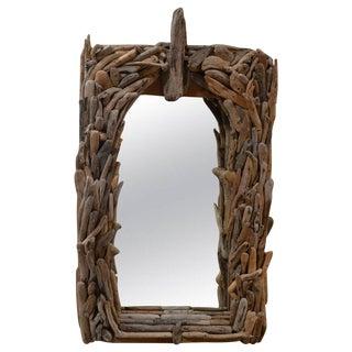 Distressed Wood Wall Mirror