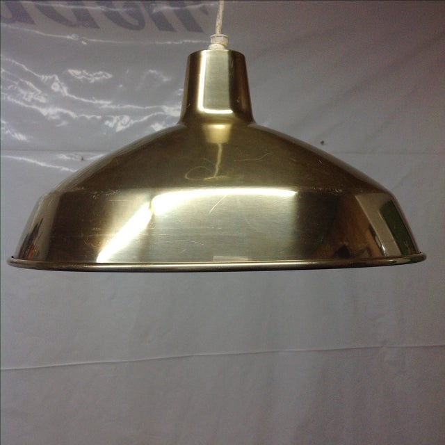 Danish Modern Brass Pendant Light - Image 3 of 4