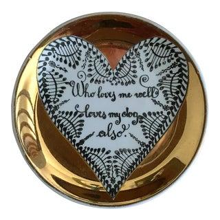 Piero Fornasetti Gold Leaf Plate