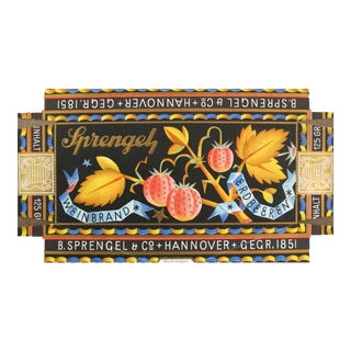 1927 German Vintage Packaging, Sprengel Chocolate