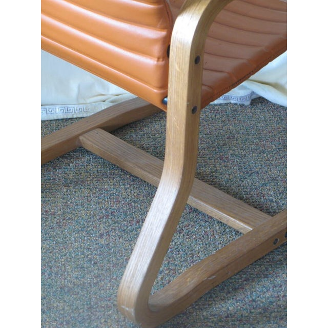 Thonet Oak Laminated High Back Lounge Chair - Image 7 of 11