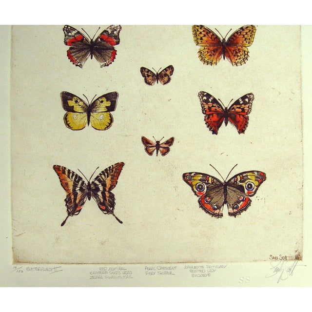 Sandy Scott Etching - Butterflies II - Image 3 of 4