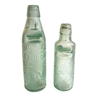 Antique Marble Medicine Bottles - A Pair