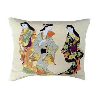 Silk Japanese Geisha Pillow