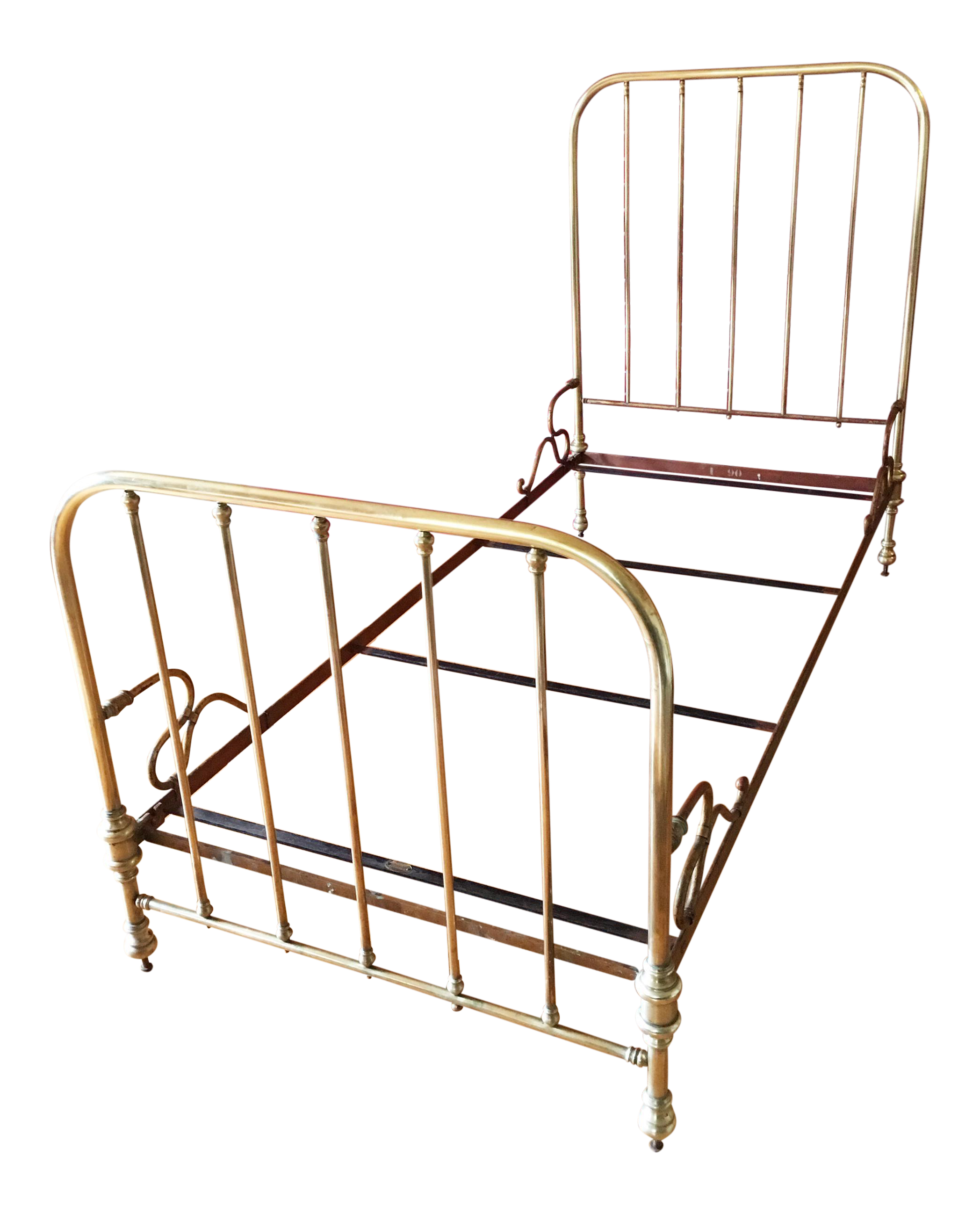 1930u0027s french solid brass bedframe
