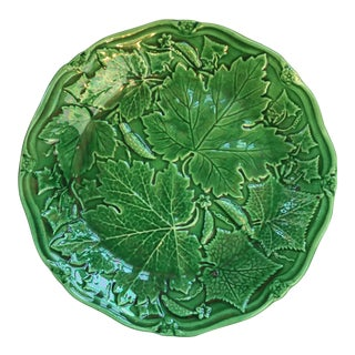 English Majolica Green Plate