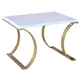 Modern Gilt & Marble Top Side Table