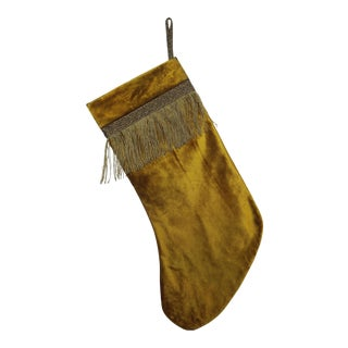 Antique Velvet Christmas Stocking