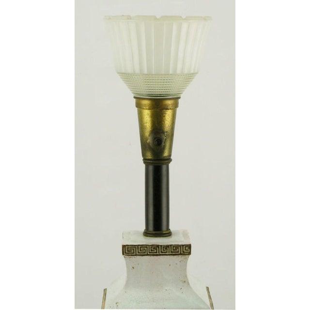 Neoclassical Crackle Glaze & Parcel Gilt Greek Key Table Lamp - Image 3 of 7