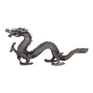 Chinese Silver Dragon Statue