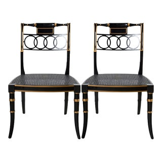 Baker Furniture Governor Alston Chairs - A Pair