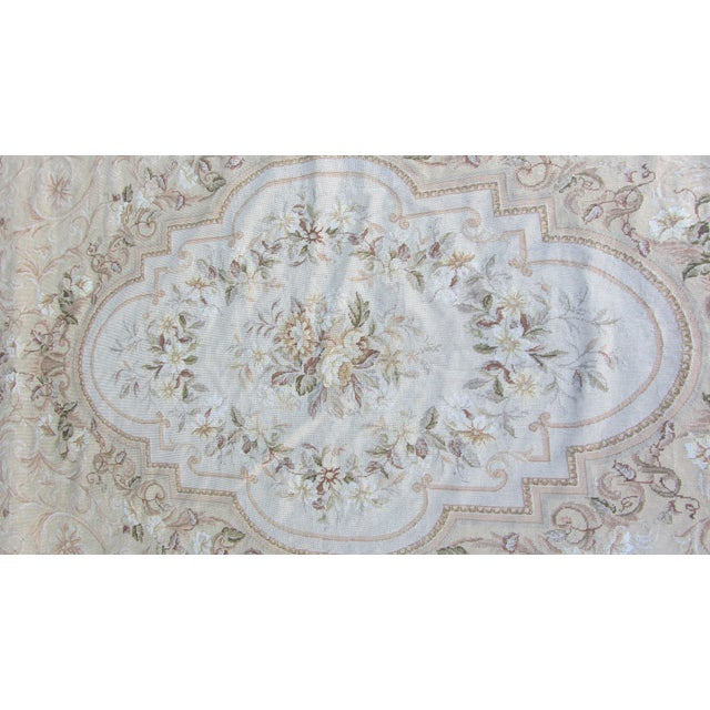 Vintage French Aubusson Needlepoint Rug 7 8 Quot X 9 11