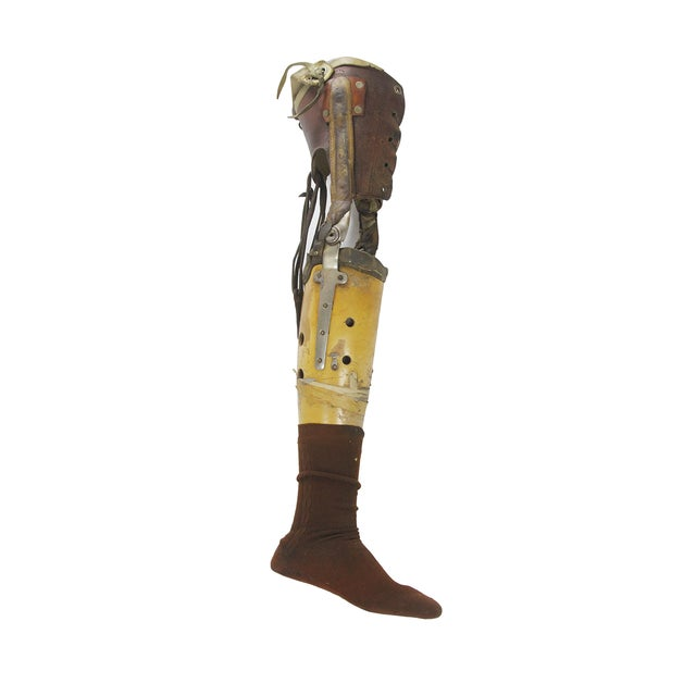 Vintage Medical Prosthetic Right Leg - Image 2 of 5