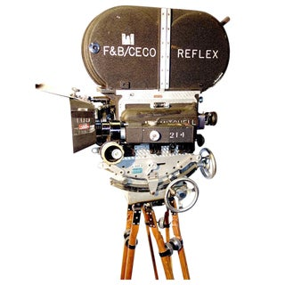 Rare Mitchell 35mm Antique Feature Cinema Camera Package As Sculpture