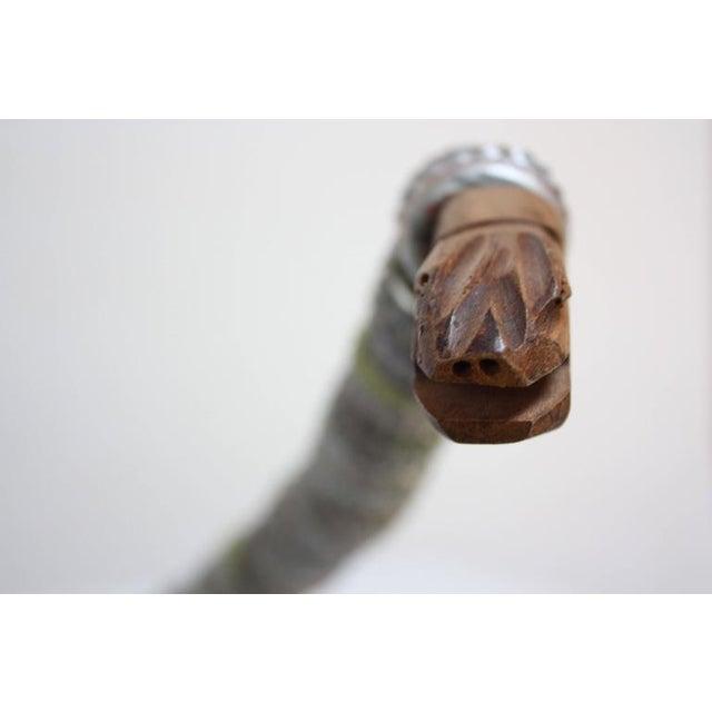 Folk Art Carved Wood and Bottlecap Snake after Felipe Archuleta - Image 3 of 10
