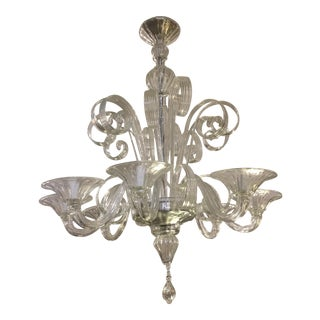 A.V. Mazzega - Venetian 8-Arm Glass Chandelier