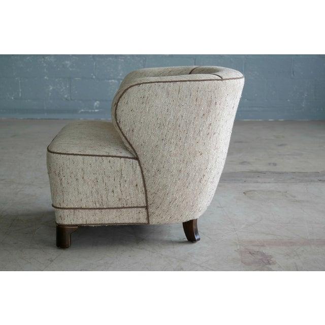 Viggo Boesen Attributed Danish Modern Lounge Chair 1940s - Image 9 of 11