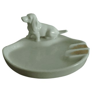 Vintage Dog Figure Ashtray