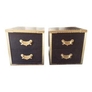 Timothy Oulton Leather Nightstands - A Pair