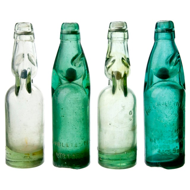 Image of Vintage Street Vendor Soda Bottles - Set of 4