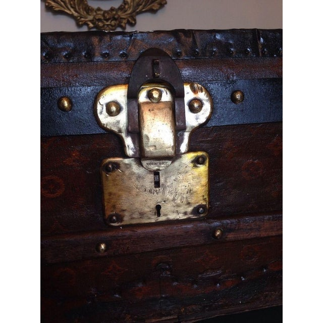 Vintage Louis Vuitton 3/4 Travel Steamer Trunk - Image 10 of 11